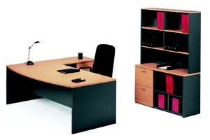 Merlin Executive Desk and Return Suite