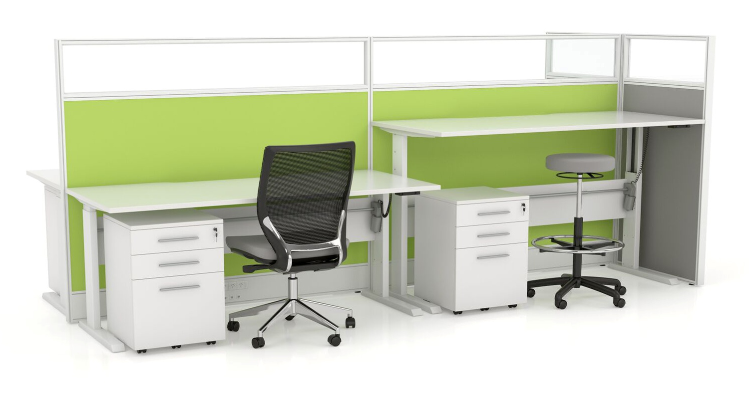 Axis Height Adjustable Desk 4 Pod