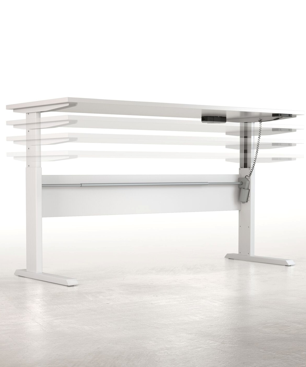 Axis Height Adjustable Desk in motion