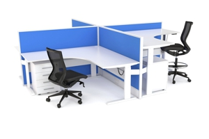 Axis Height Adjustable Corner Workstations