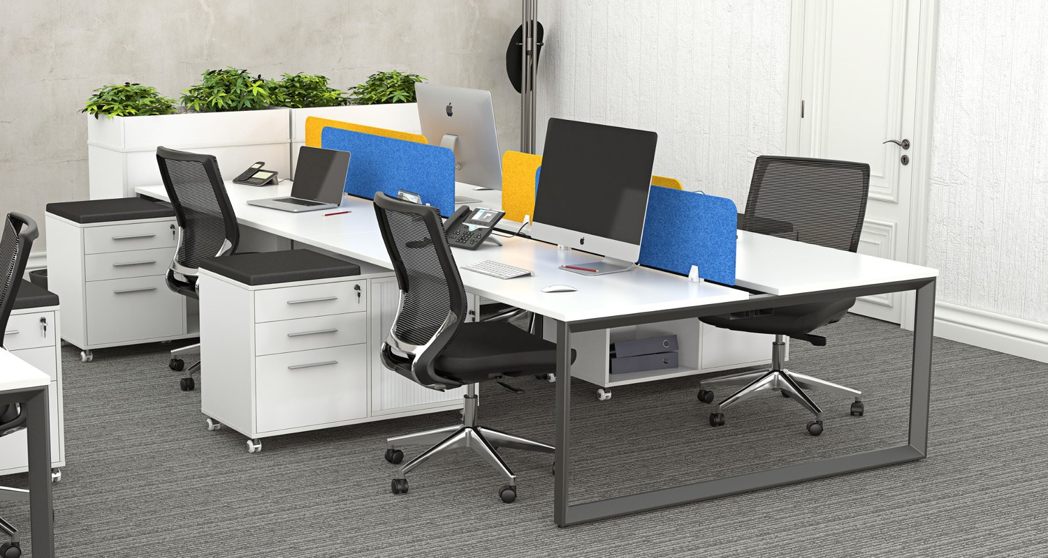 Anvil 4 Person Workstation with e-Panel Screens