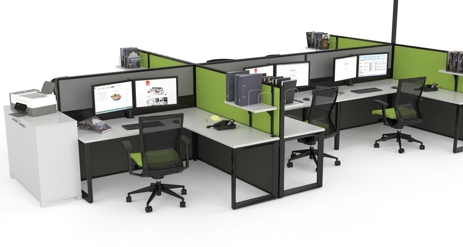 Anvil 6 Person Workstation with Studio Screens