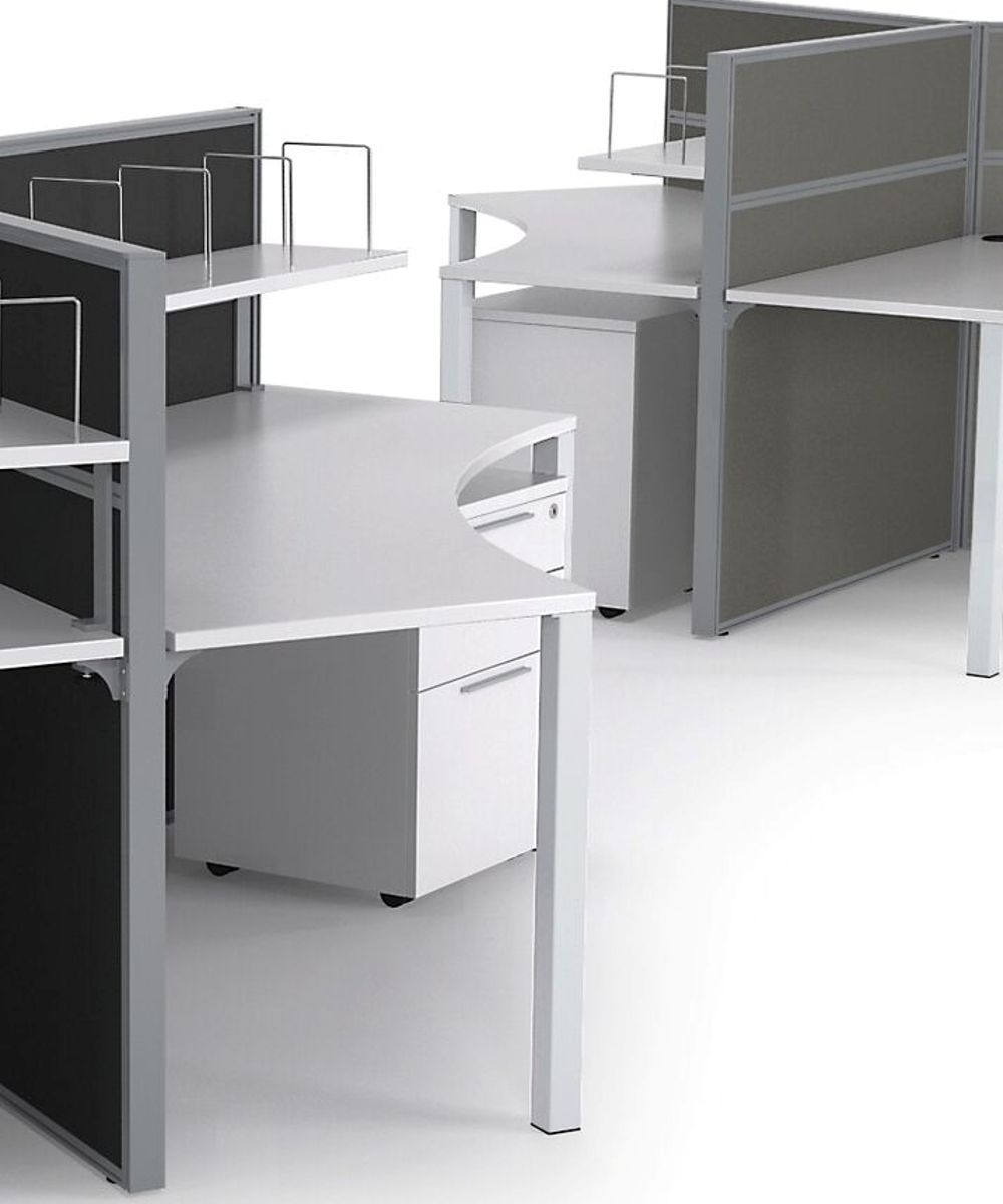 Axis 120 degree Curved Workstations
