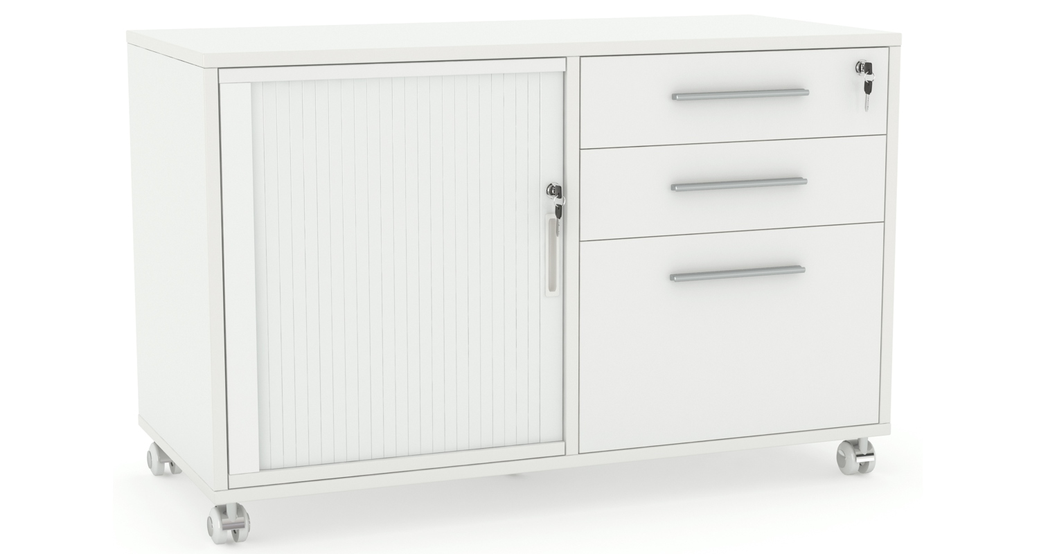 Mobile Caddy with Drawers and Tambour