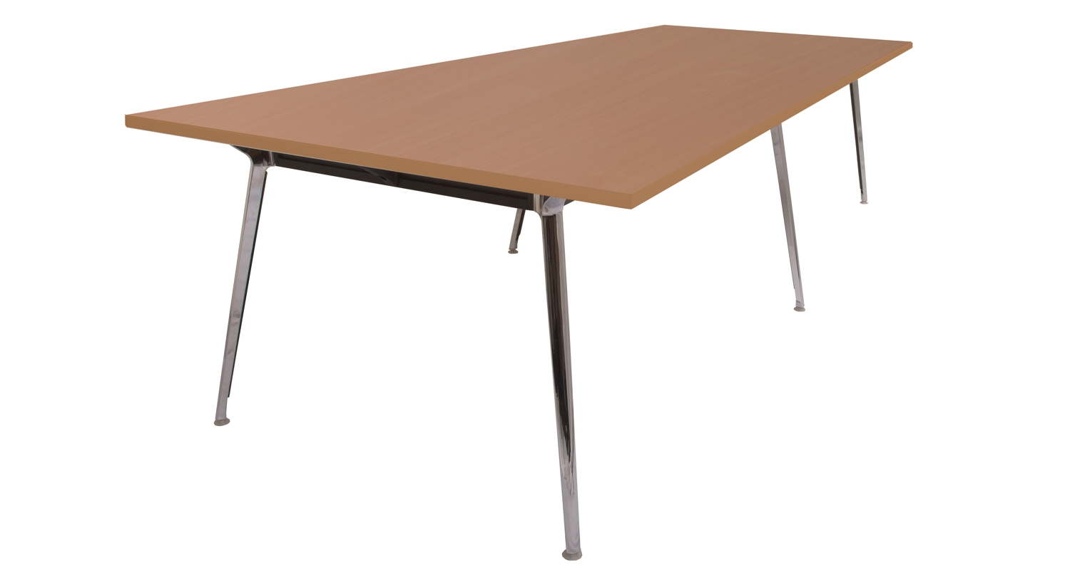 Air Boardroom Table Beech Top 3200mm