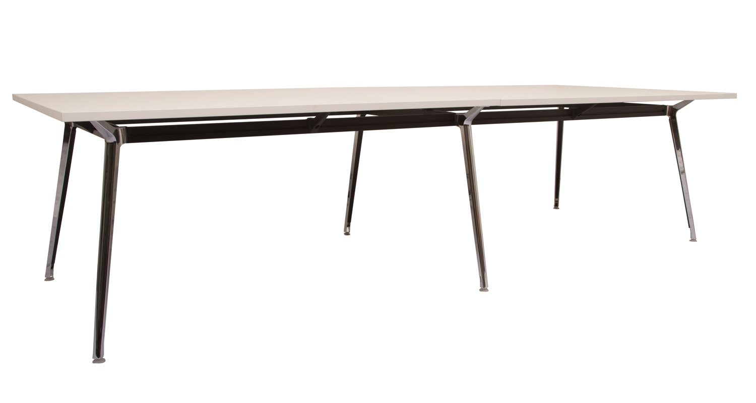 Air Boardroom Table White Top 3200mm