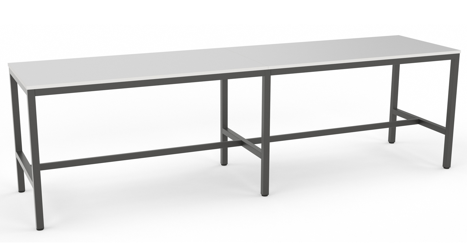 Axis Bar Leaner Collaboration Table with Black Frame