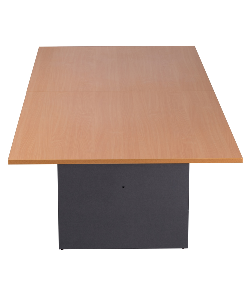 Beech and Ironstone Rectangular Boardroom Table 2400mm (2)