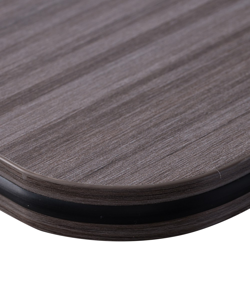 Black Rubber Edging with Driftwood Finish