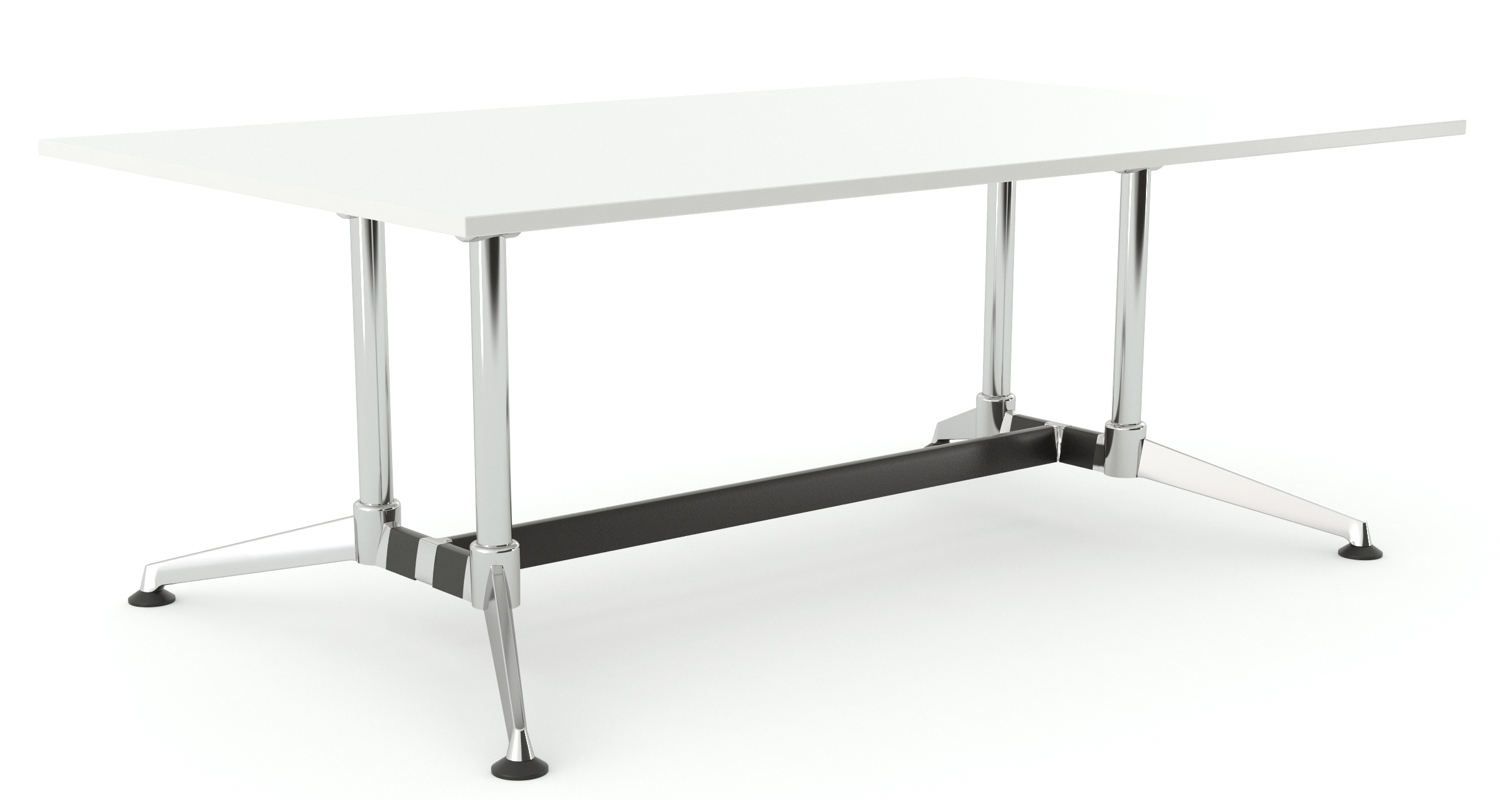 Modulus Boardroom Table White 2400x1200