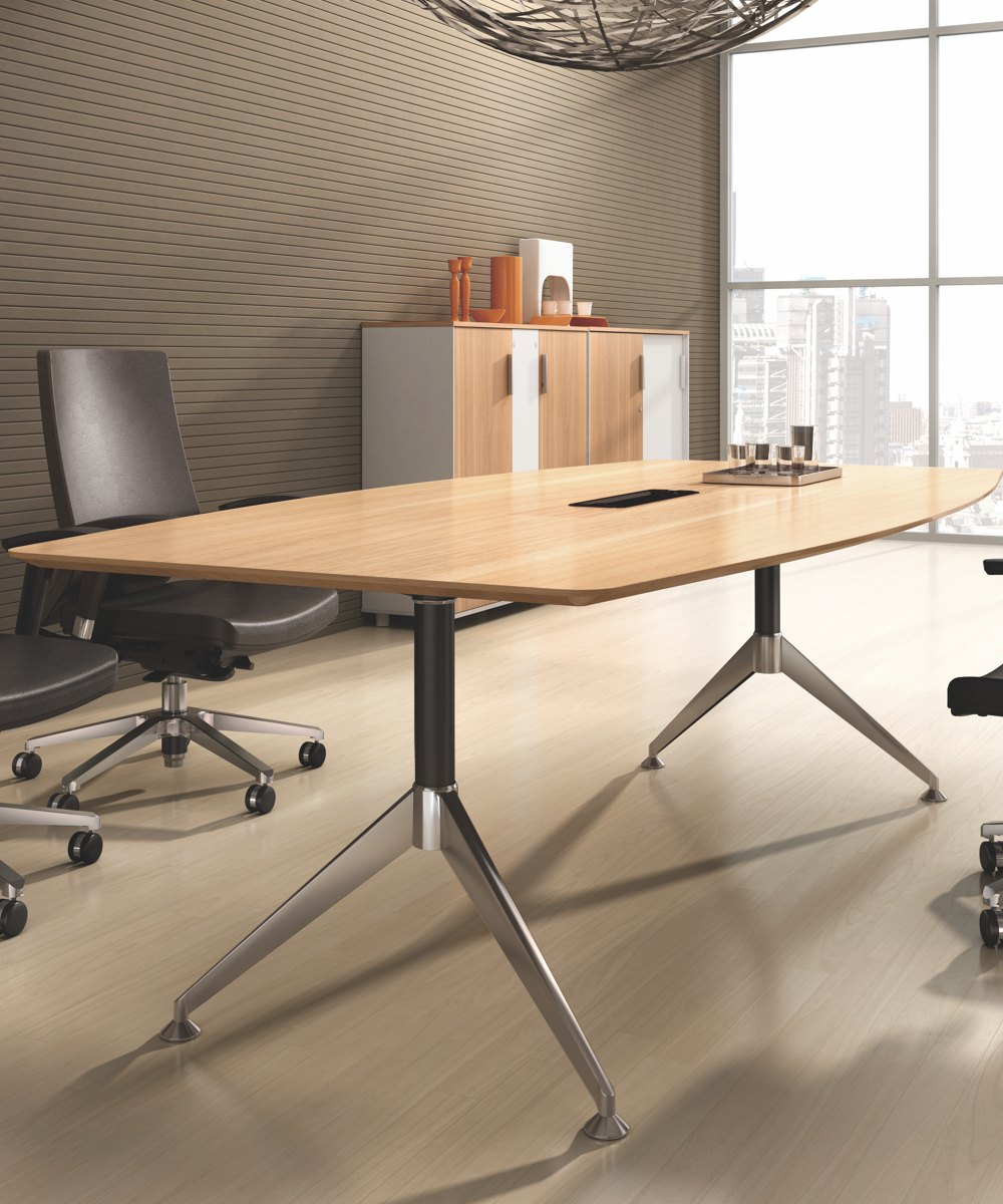 Potenza Boardroom Table Virginia Walnut