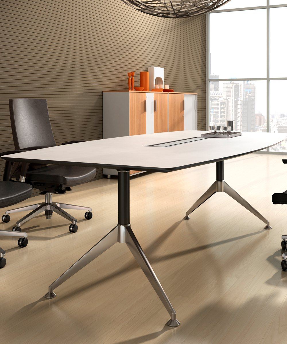 Potenza Boardroom Table White