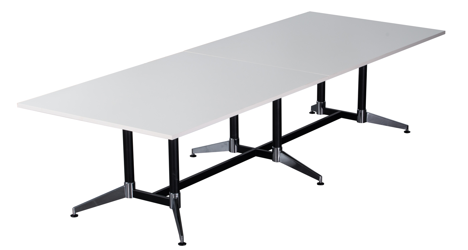 Typhoon Boardroom Table White 3200mm