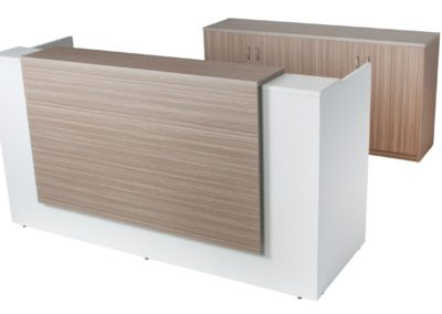 Apex Reception Counter with 4 Door Cupboard