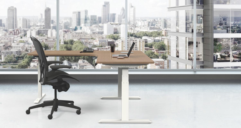 Ergovida Height Adjustable Corner Workstation