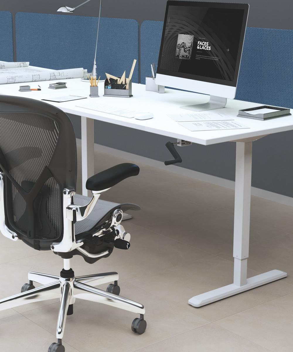 Ergovida Manual Height Adjustable Desks