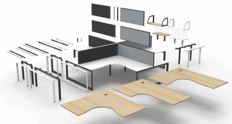 Infinity Corner Workstation Options