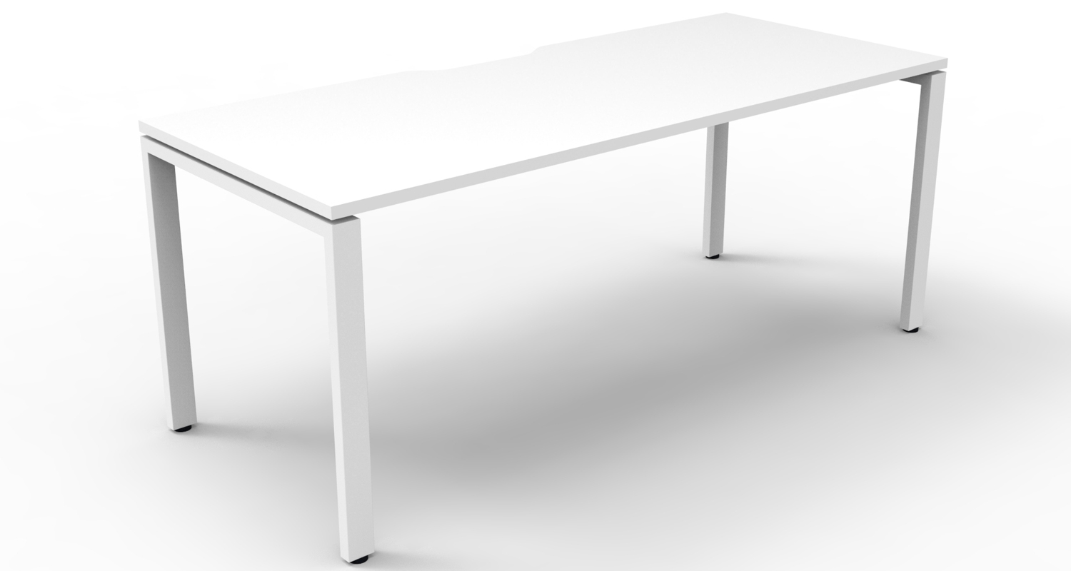 Infinity Desk White Top with White Profile Legs