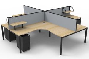 Deluxe Infinity Corner Workstations