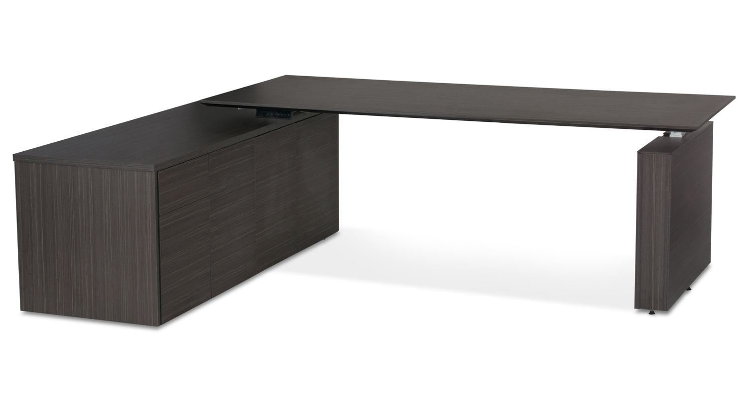 Kingston HA Executive Desk Blackline Wood (2)