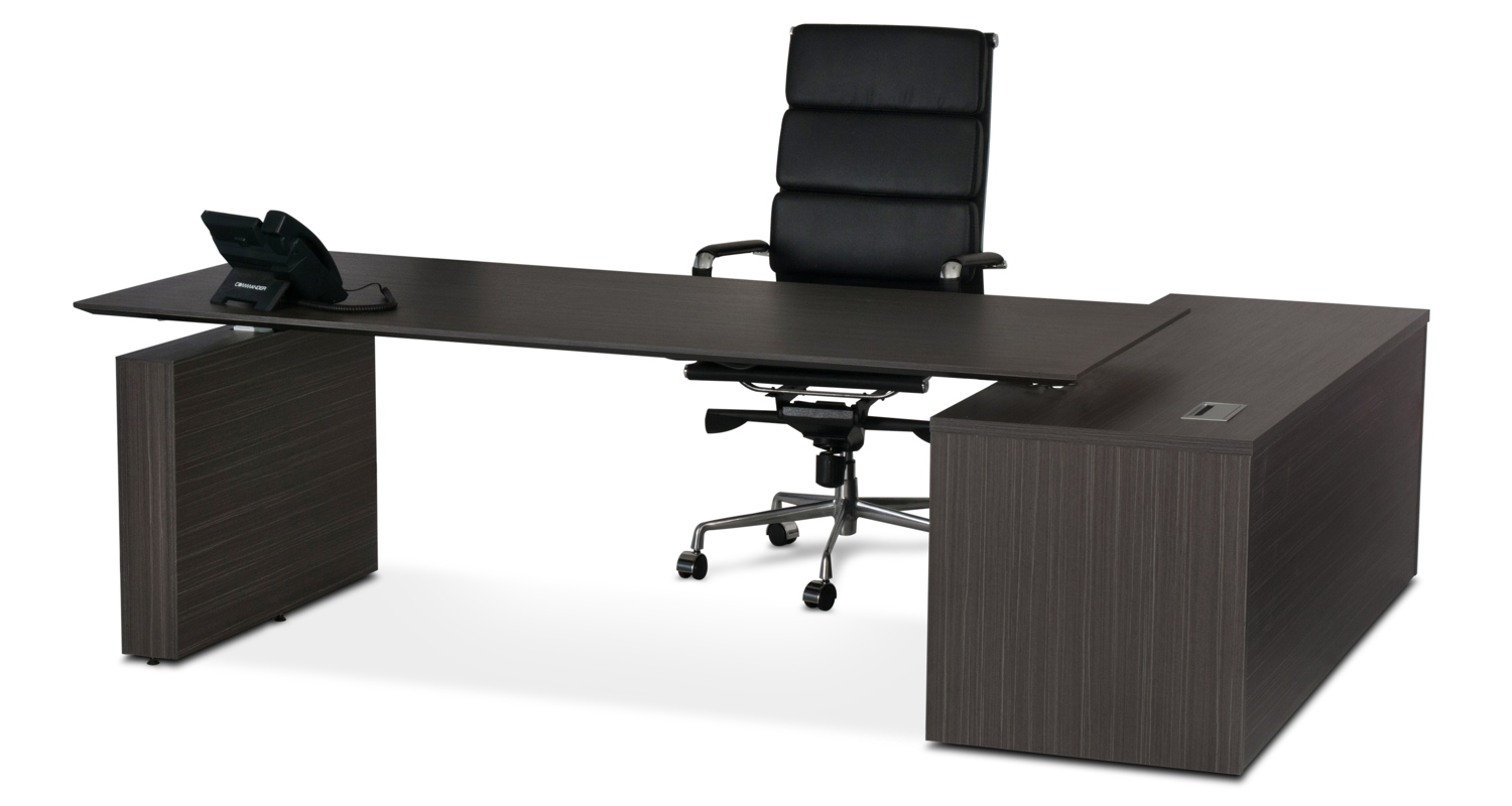 Kingston HA Executive Desk Blackline Wood