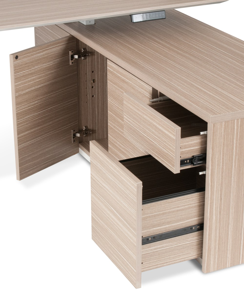 Kingston HA Executive Desk Tawny Storage