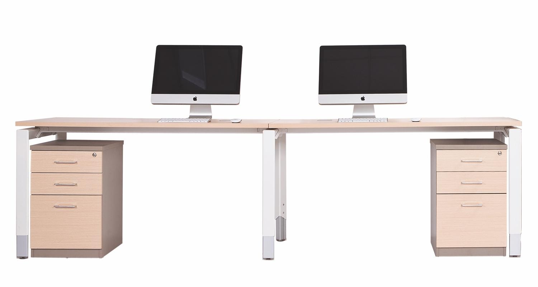 Oblique 2 Person Desk