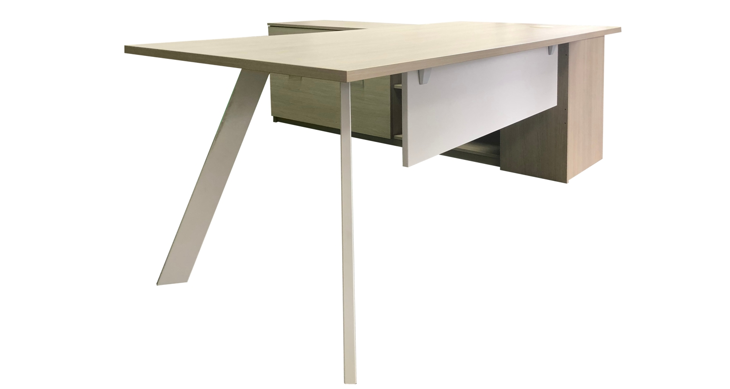 Axiom Executive Desk with Inspire Legs and Modesty