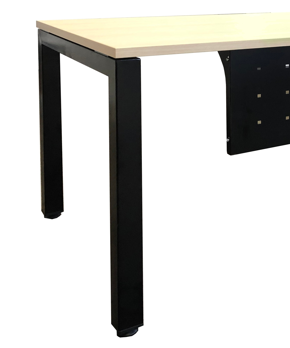 Axiom Executive Desk with Steel Profile Leg and Modesty (2)