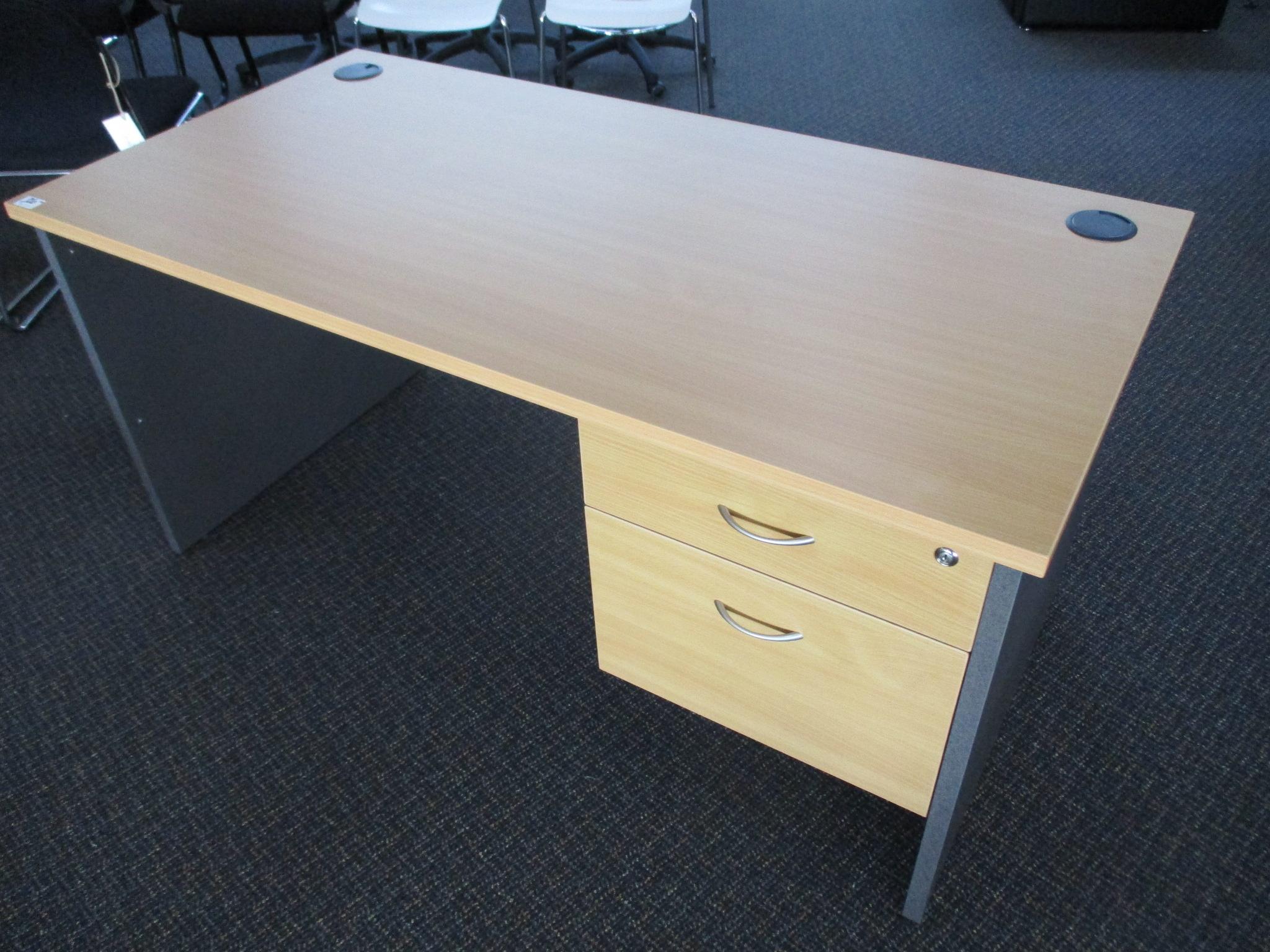 New Beech and Ironstone Desks 1500×750 $350