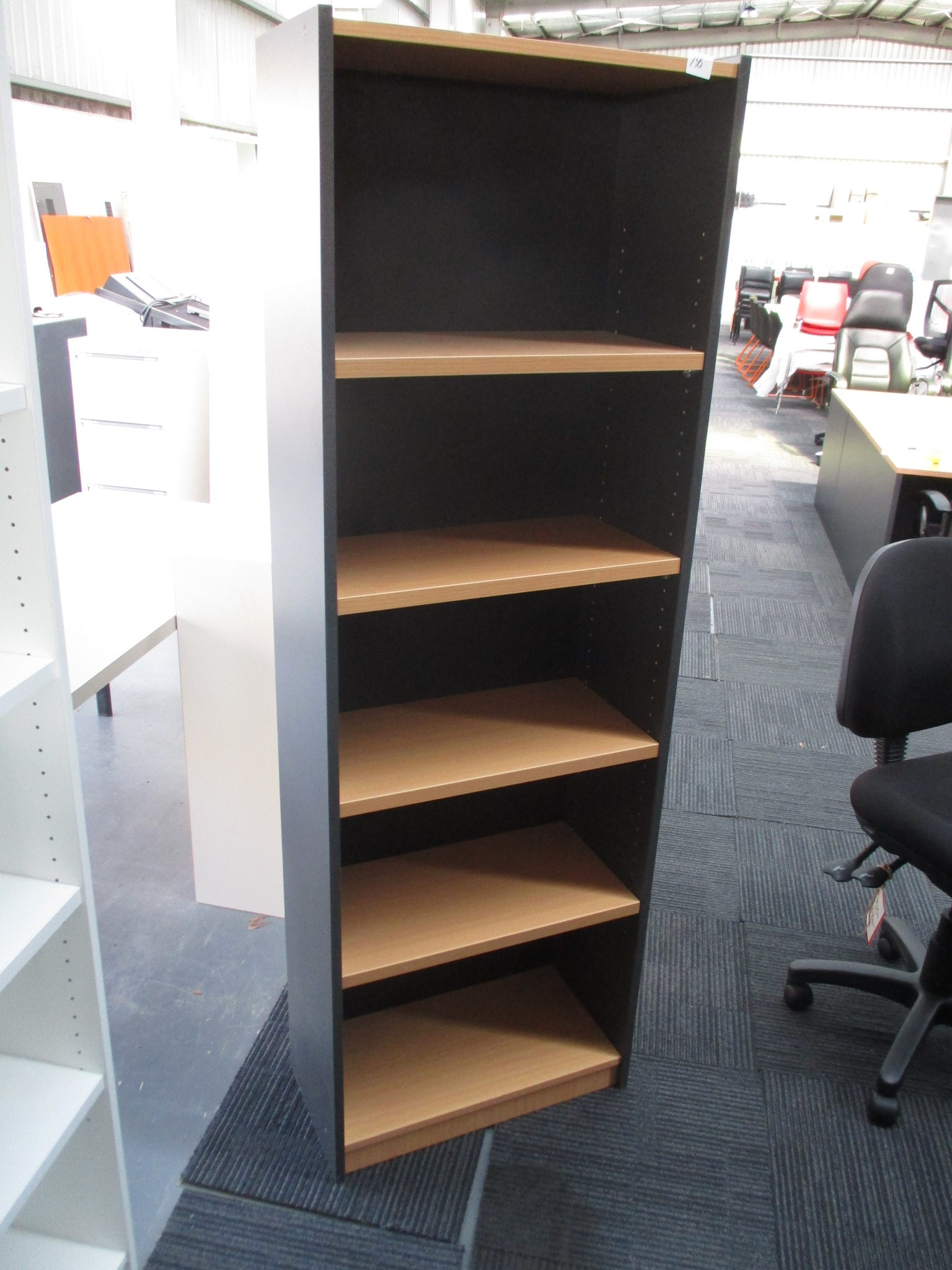 New Beech and Ironstone Bookcase 1800×600 $195