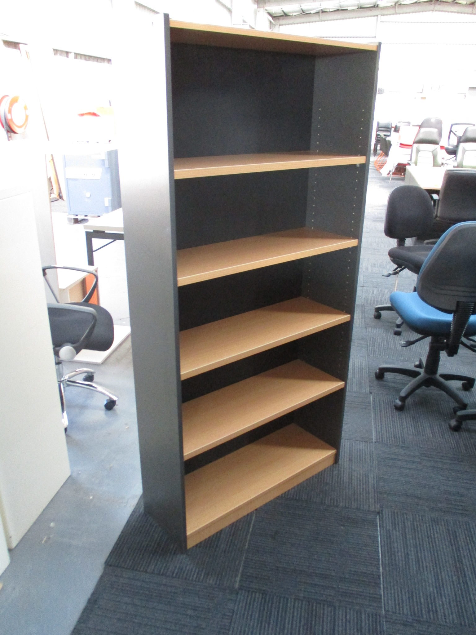 New Beech and Ironstone Bookcase 1800×900 $245