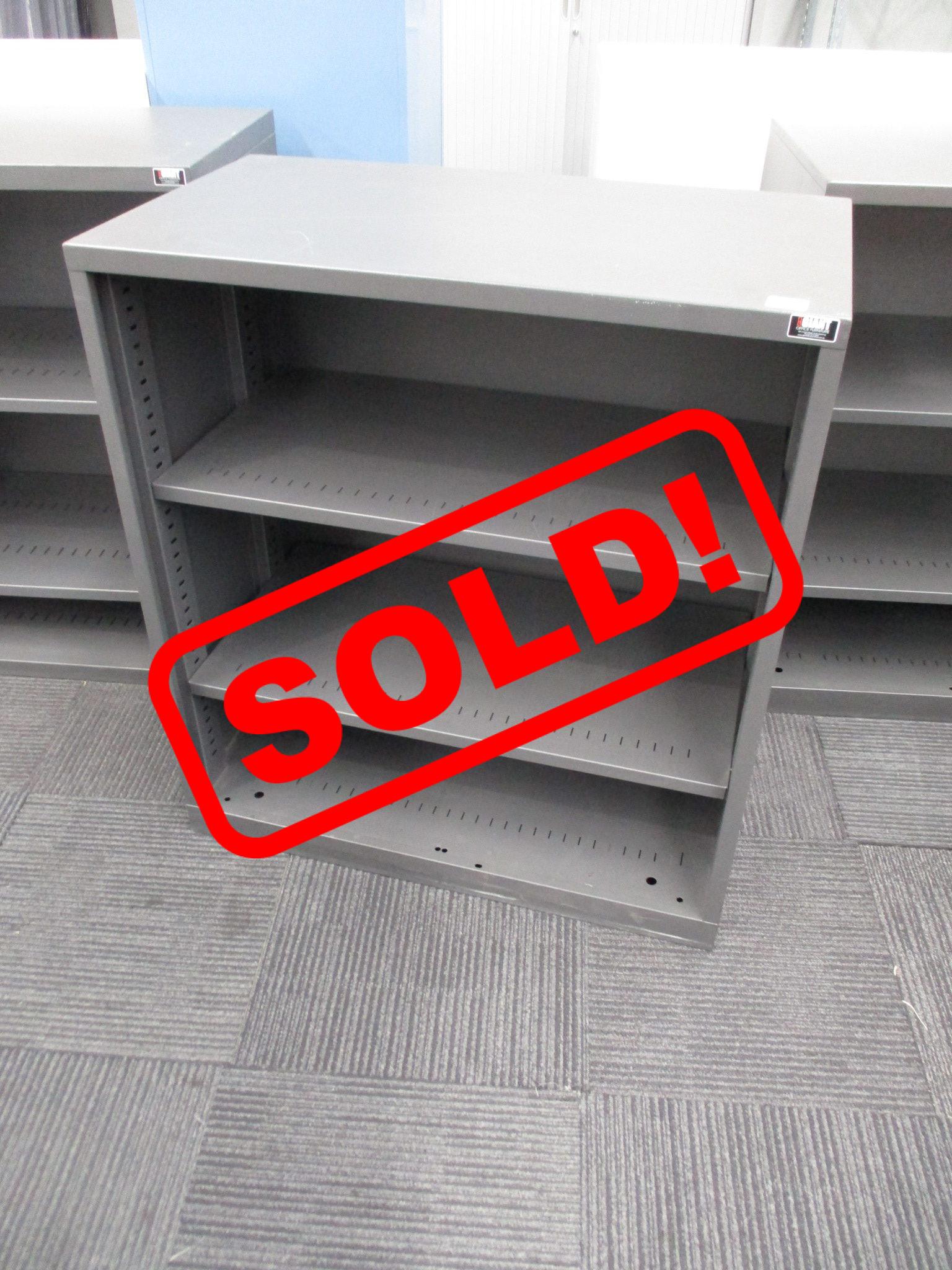 Graphite Steel Shelving Units $85