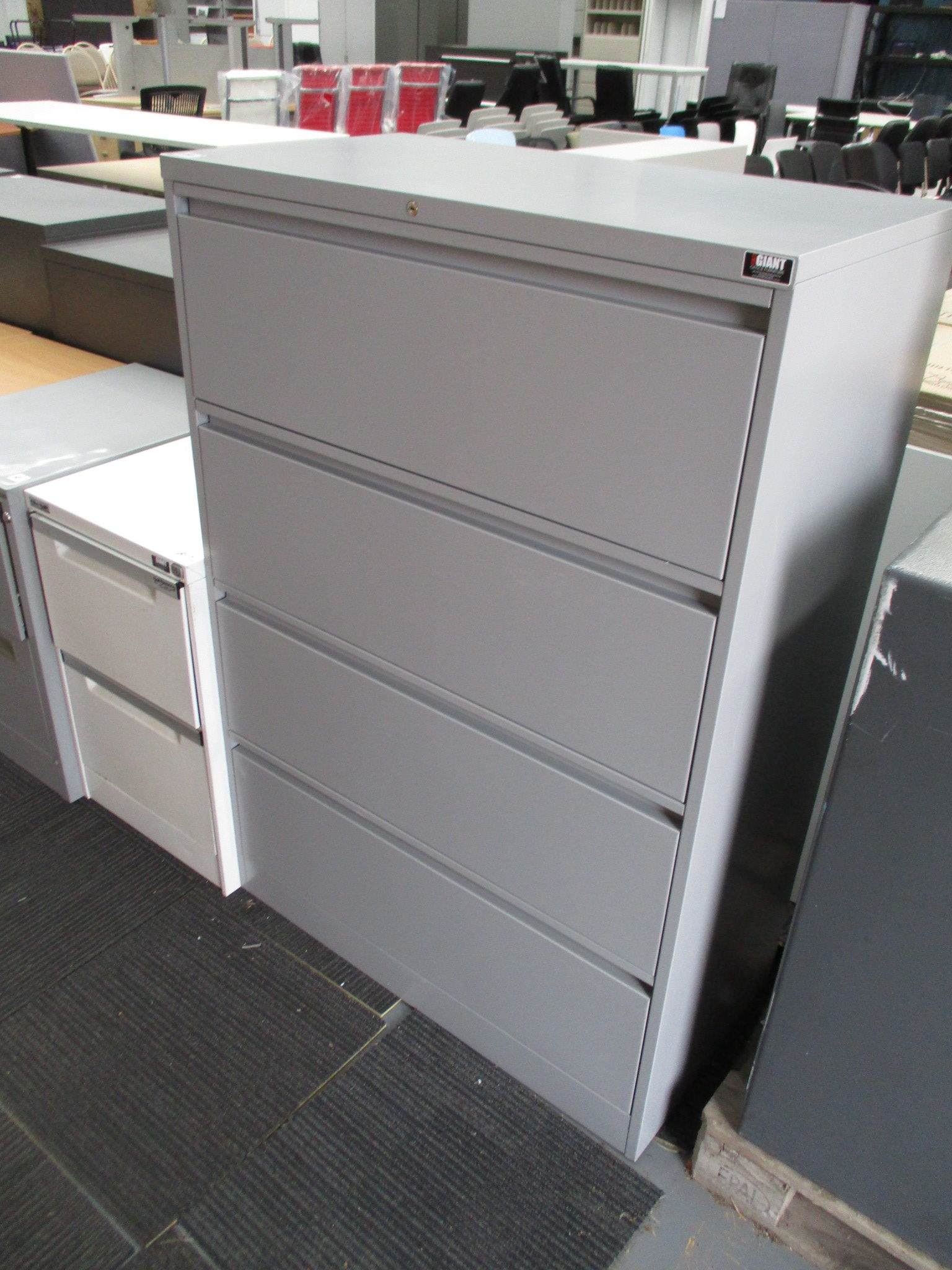 Silver 4 Drawer Lateral Filing Cabinet $490