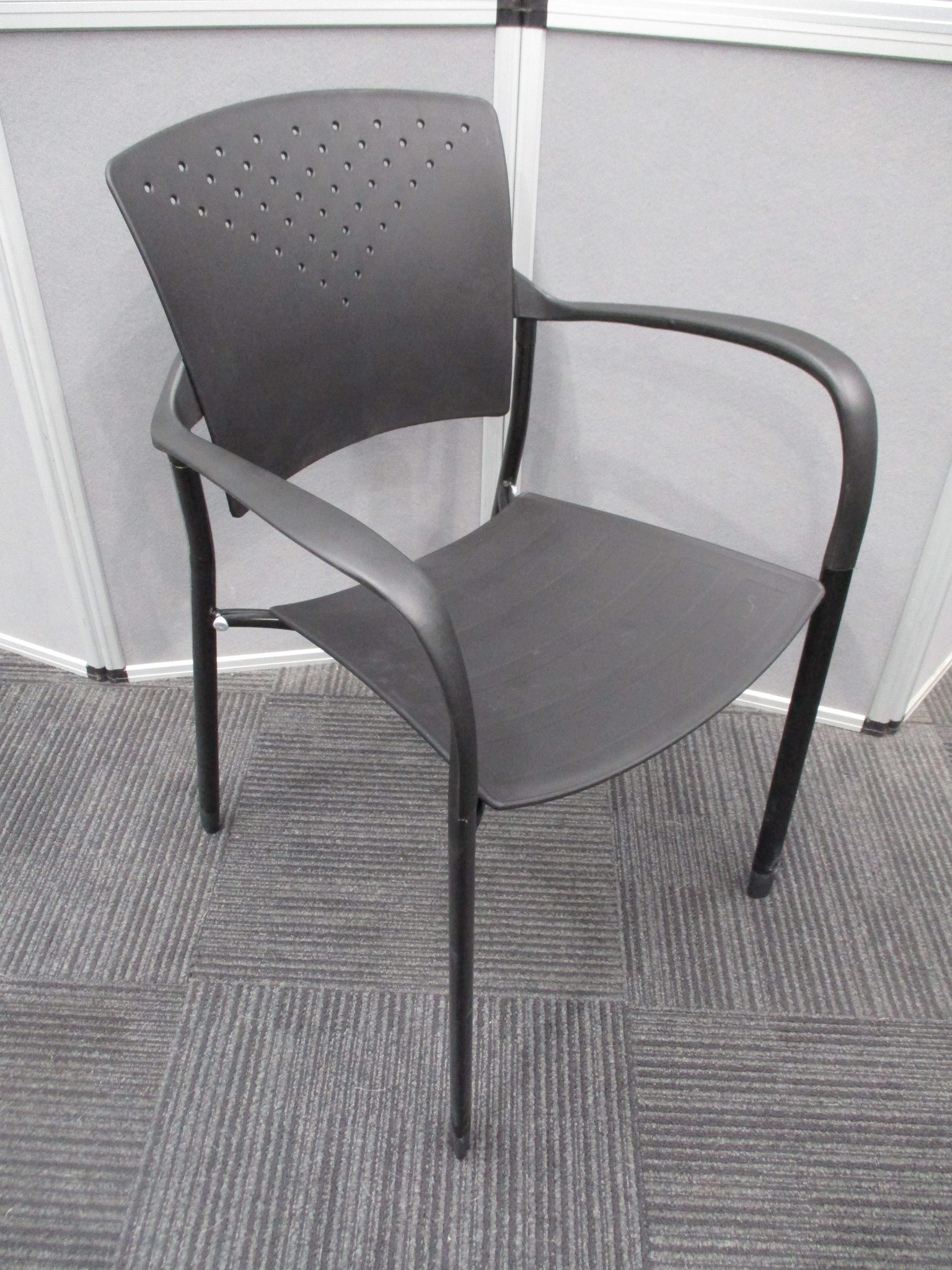New Black Sienna Stacking Chairs $69