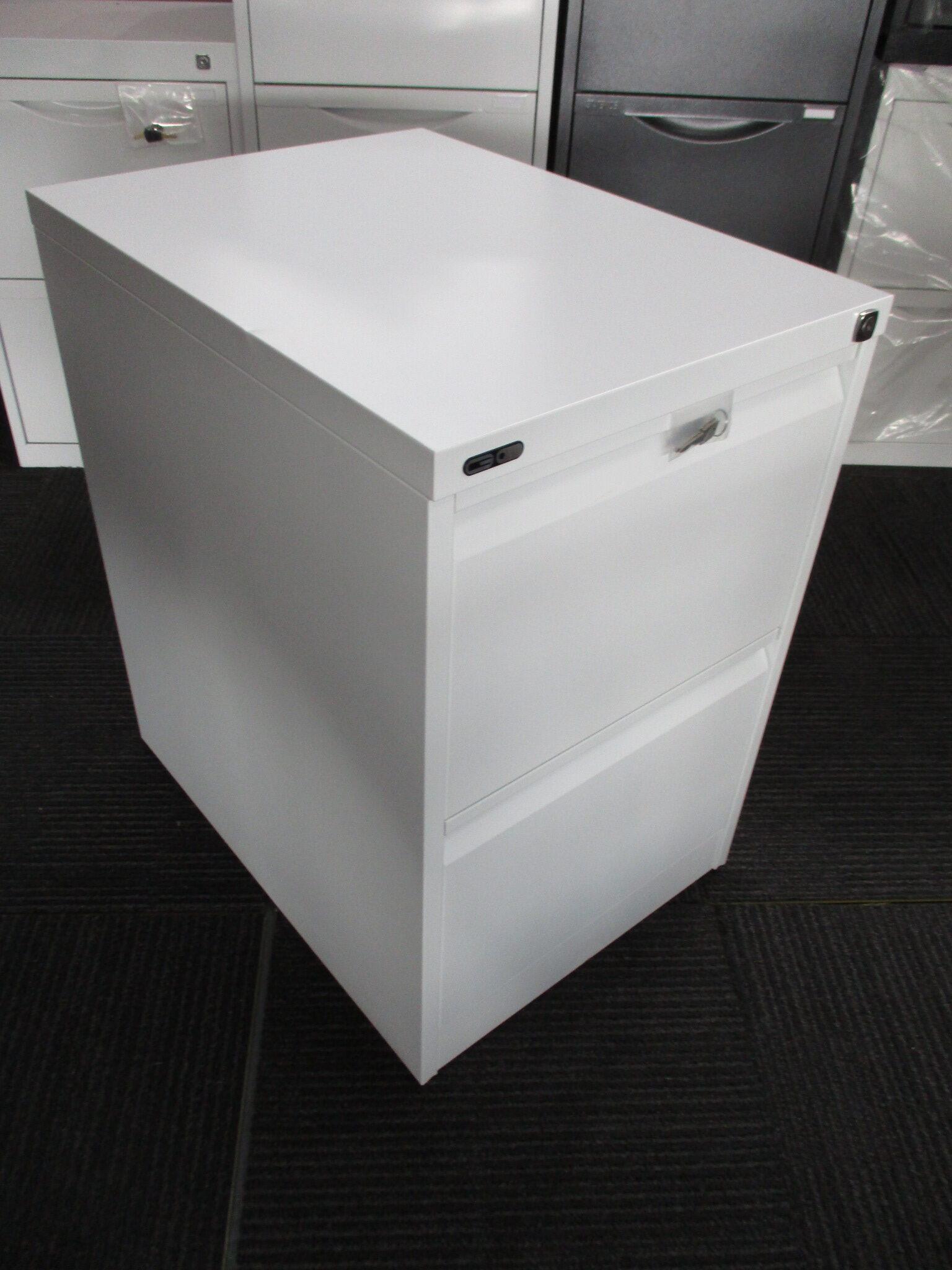 New GO White 2 Drawer Filing Cabinet $250