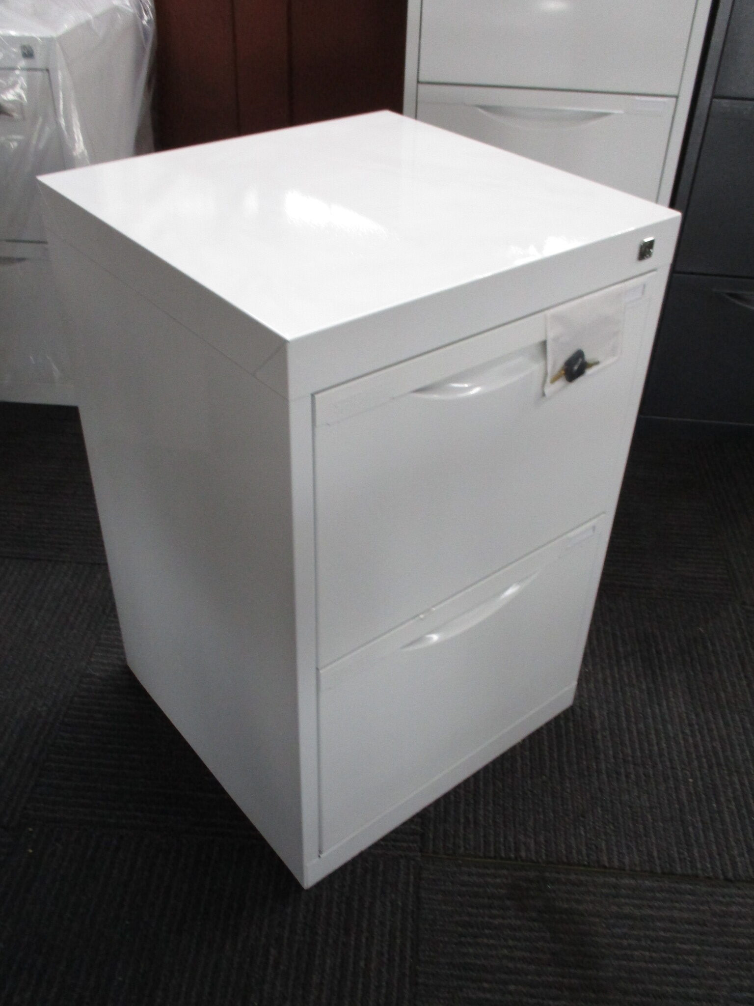 New White Statewide Homefile 2 Drawer Filing Cabinet $225