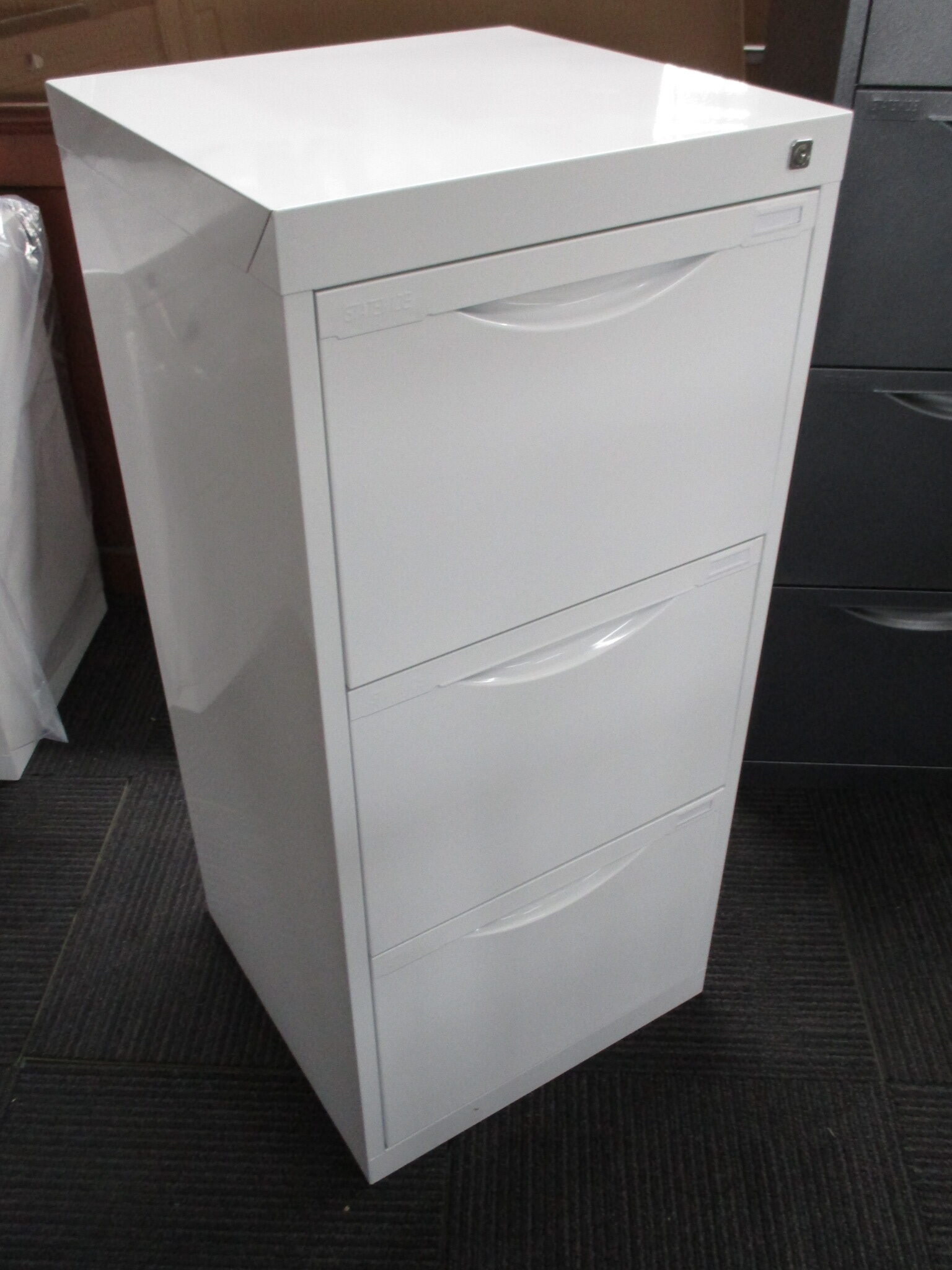 New White Statewide Homefile 3 Drawer Filing Cabinet $275