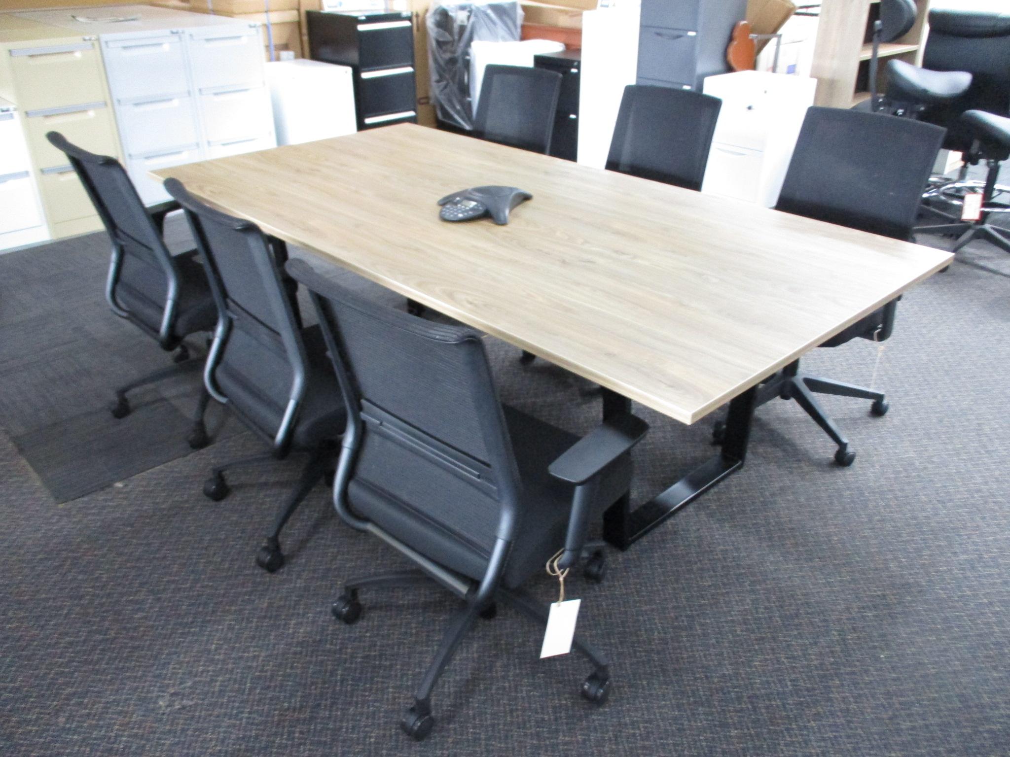 New Natural Walnut Boardroom Table 2400×1200 $750