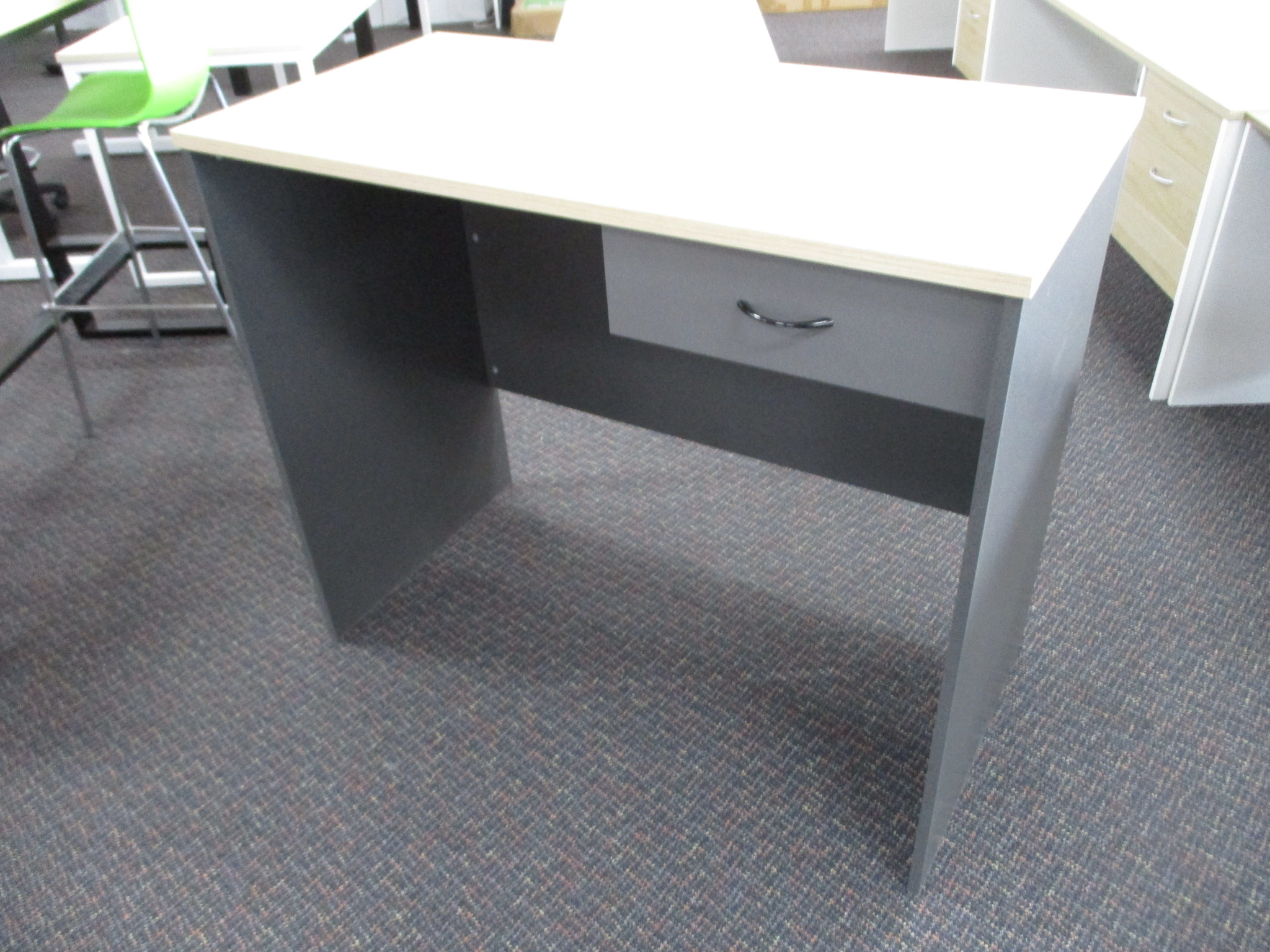 New Classic Oak and Ironstone Standing Desk or Counter 1200×600 $390