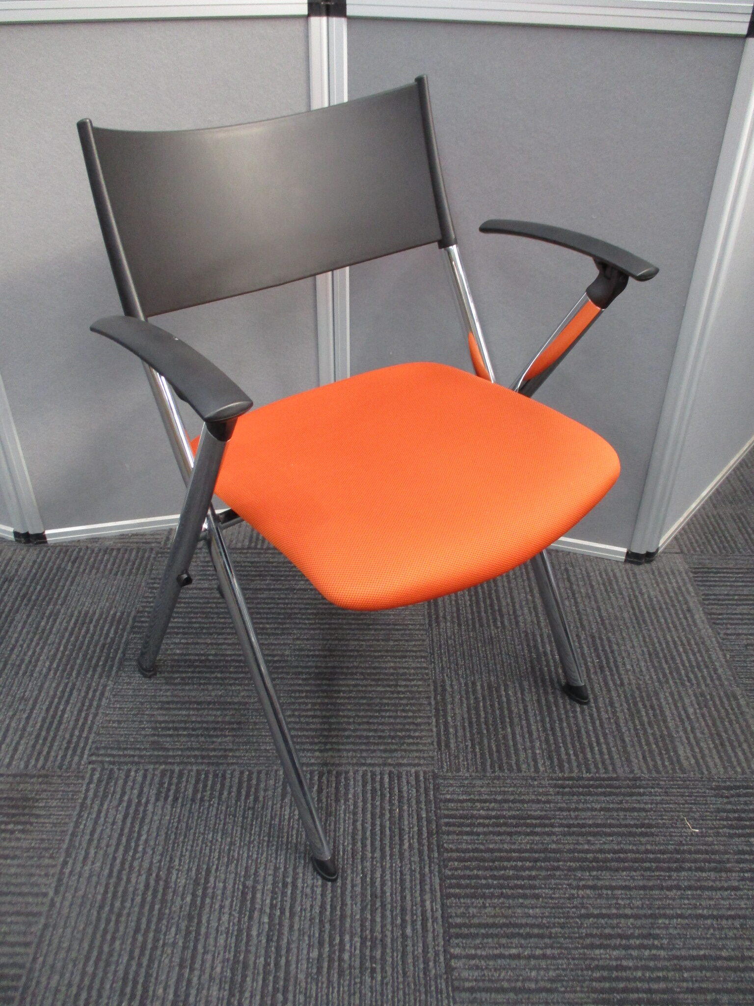 Orange Conference Seating, Stackable Visitors Chairs $65