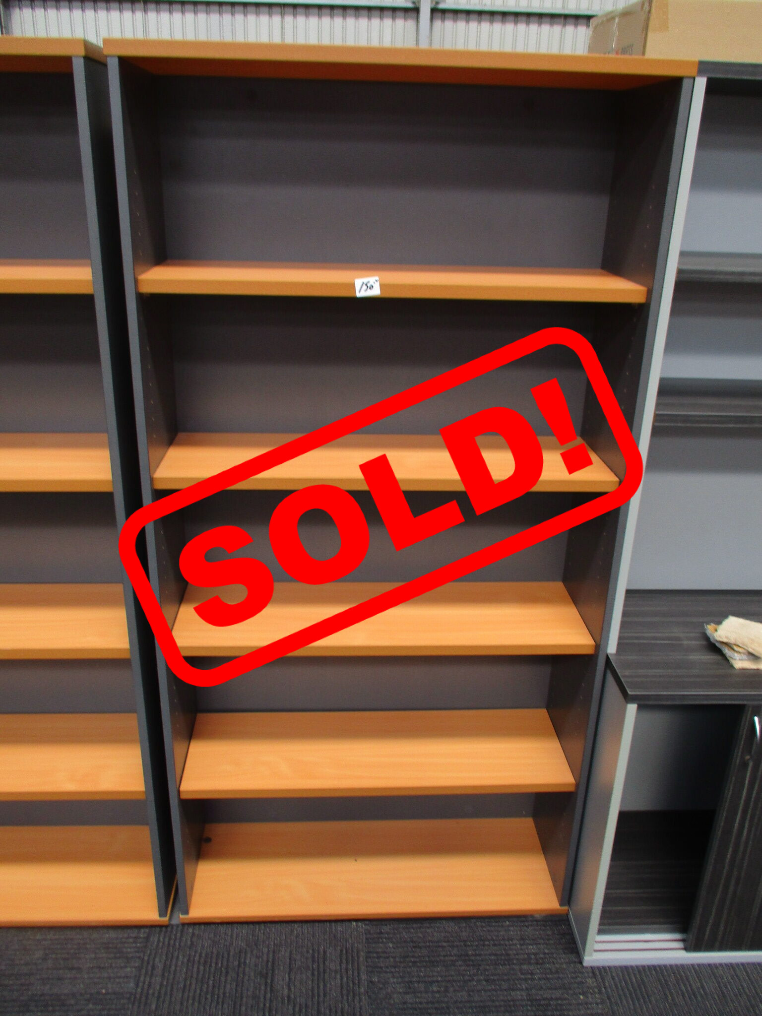 Beech and Ironstone Bookcase 1800×900 $150